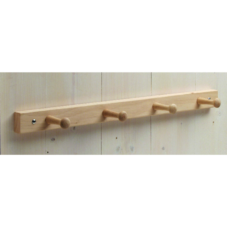 interdesign 21 1 2 in l brown wood jumbo 4 peg rack 1 pk