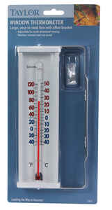 Taylor  Tube Thermometer  White  Plastic