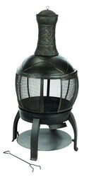 Living Accents  Chimenea  Multiple  Fire Pit  47 in. H x 22 in. W x 28 in. D Cast Iron/Steel