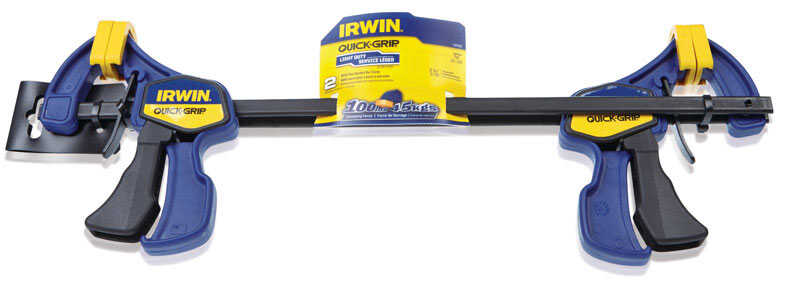Irwin  Quick-Grip  12 in.  x 2.43 in. D Resin  Bar Clamp  100 lb. 2 pc.