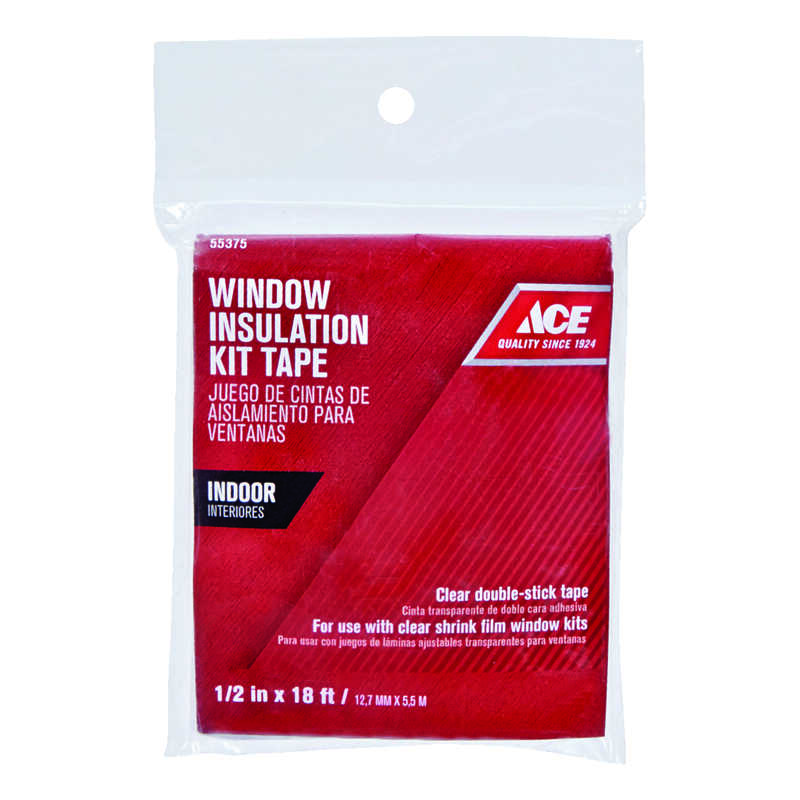 Ace  Clear  Indoor  Shrink Film Mounting Tape  1/2 in. W x 216 in. L