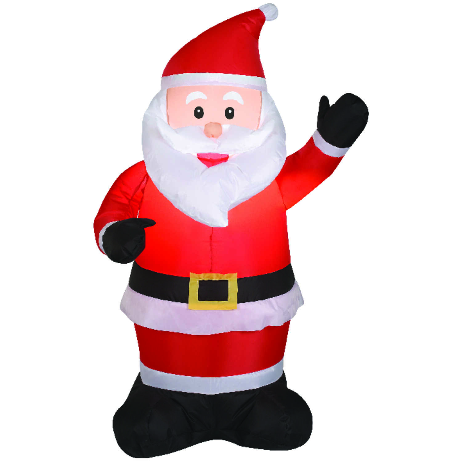 Gemmy  Animated Santa  Christmas Inflatable  Red  1 pk Velvet