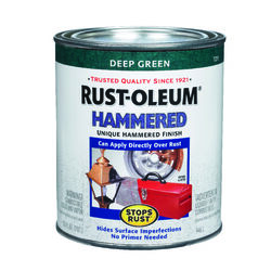 Rust-Oleum Stops Rust Indoor and Outdoor Hammered Deep Green Protective Paint 1 qt.