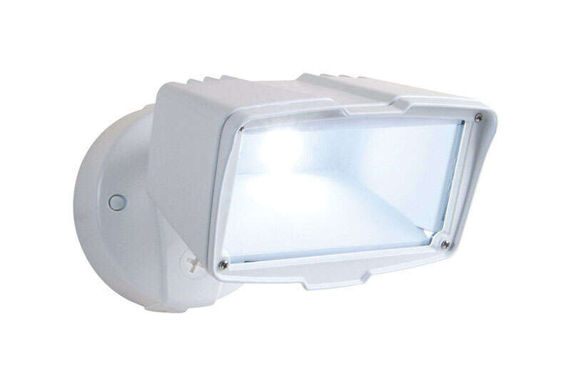 Halo  Switch  LED  White  Outdoor Floodlight  Hardwired