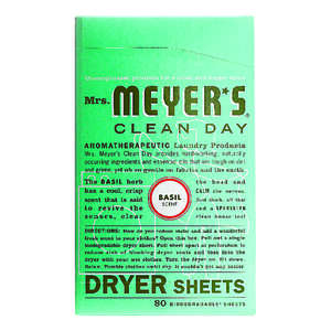 Mrs. Meyer's  Clean Day  Basil Scent Fabric Softener  Sheets  80 oz.
