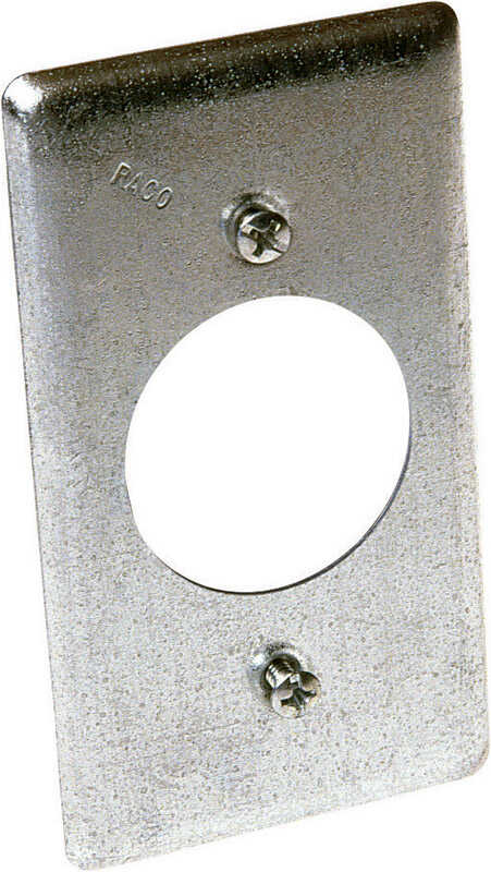 Raco  Rectangle  Steel  Box Cover  For 1 Receptacle
