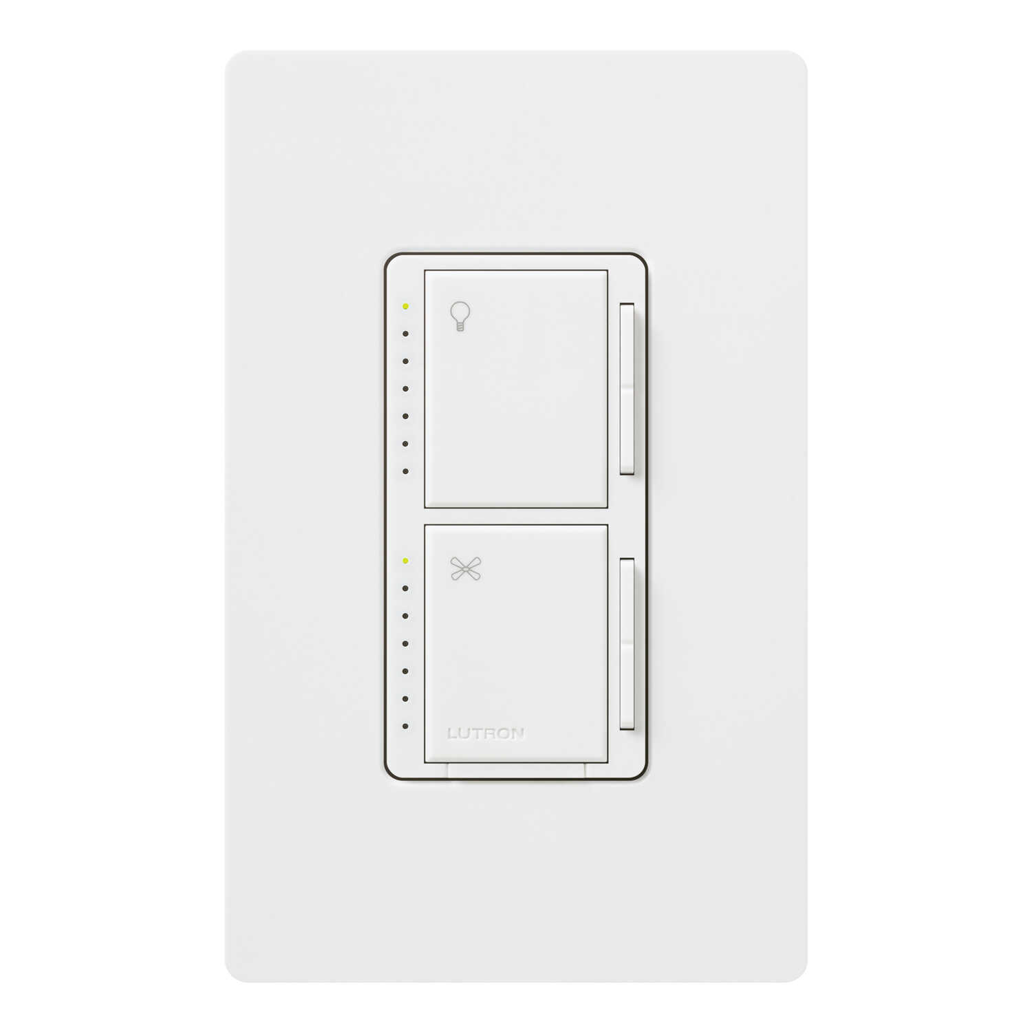 Lutron  Maestro  White  300 watts Dual Control  Dimmer Switch  1 pk