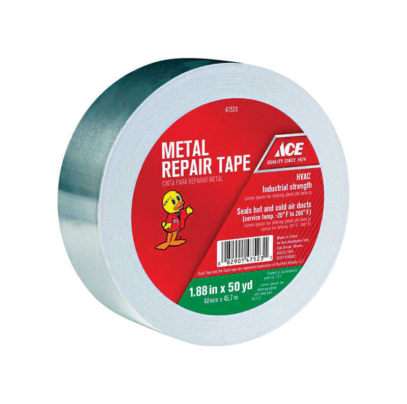 Ace 1 88 In W X 50 Yd L Silver Metal Repair Tape Ace