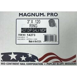 Magnum Pro 3 in. Angled Coil Nails 15 deg. Ring Shank 2500 pk