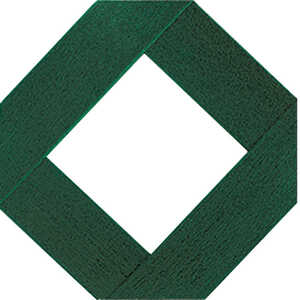 Master Mark  48 in. W x 96 in. L Forest Green  Lattice Panel  Plastic