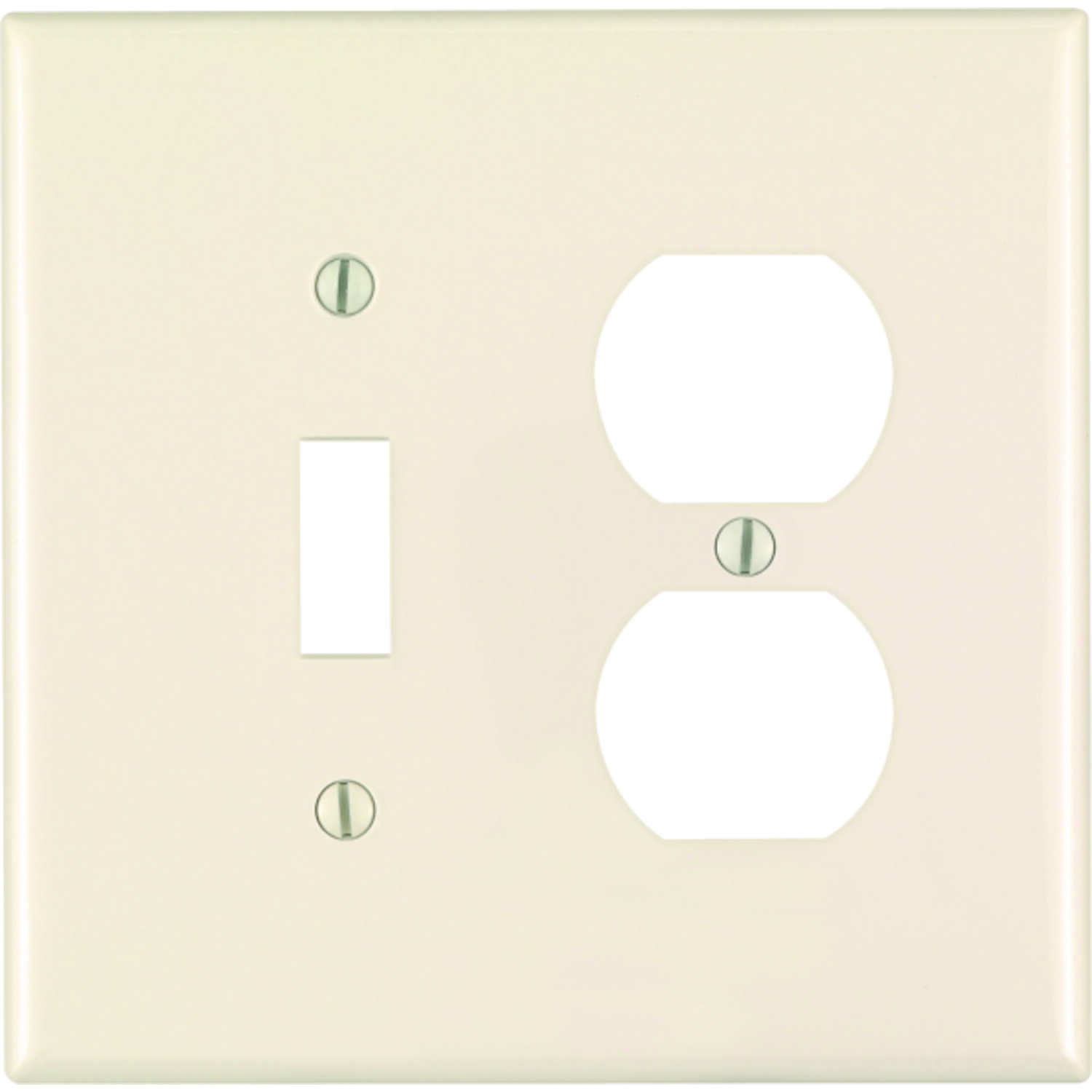 Leviton  Midway  Almond  2 gang Duplex/Toggle  Wall Plate  1 pk Nylon
