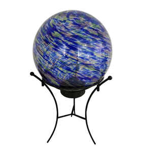Meadow Creek  Luminous Garden  Glass  Multi-color  11.8 in. H Gazing Ball