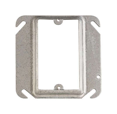Steel City Square Steel 1 gang Outlet Box Cover For Mounts to Box or Device