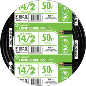 Coleman Cable  50 ft. L 14 Ga. Power Cable
