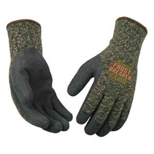 Kinco  Frost Breaker  Men's  Indoor/Outdoor  Acrylic Latex  Thermal  Dipped Gloves  Camouflage  L  1