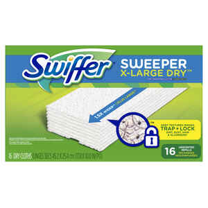 Swiffer  Sweeper  10 in. L Mop Refill  Microfiber  16 pk