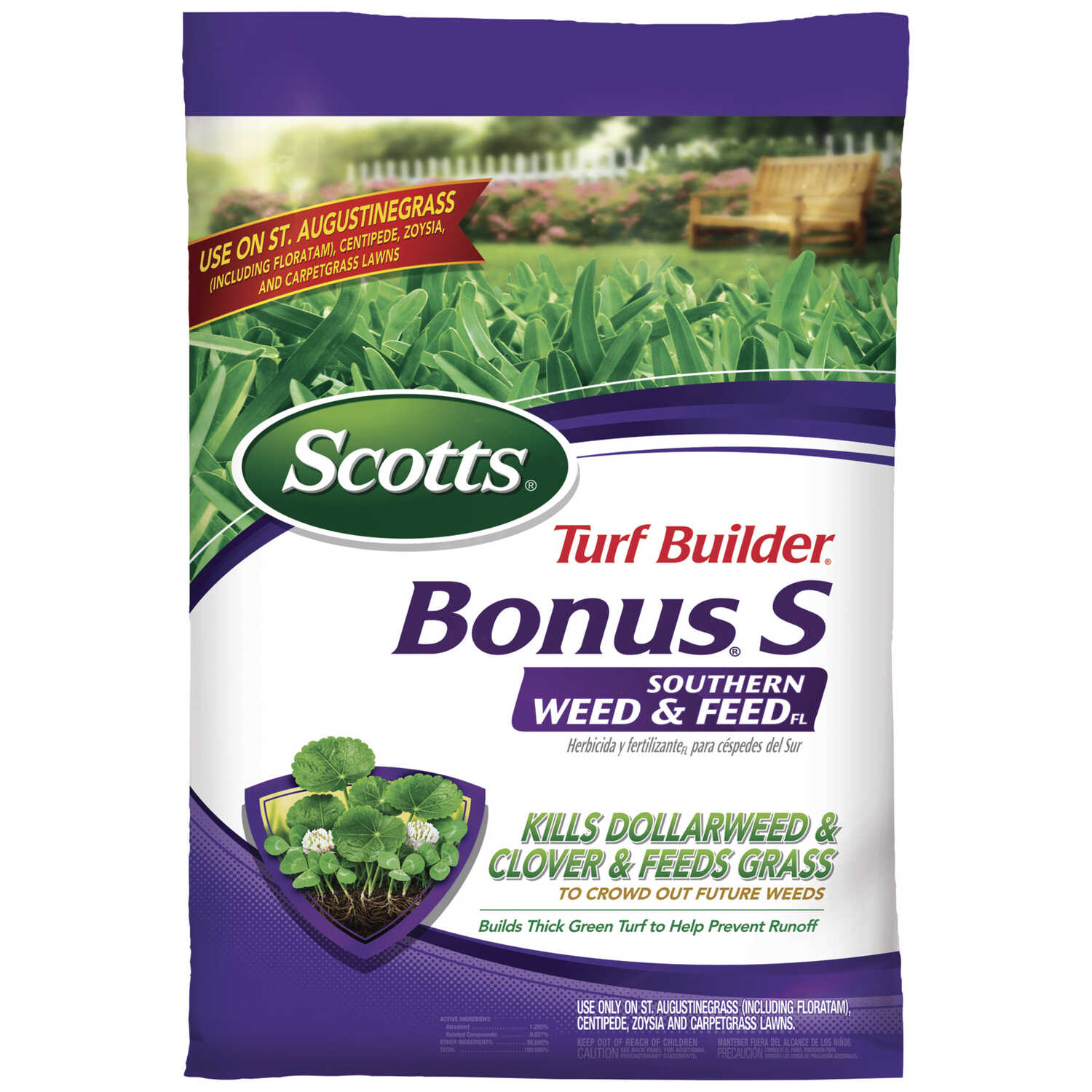 Scotts  Turf Builder Bonus S  29-0-10  Weed and Feed  For St. Augustine 17.34 lb.