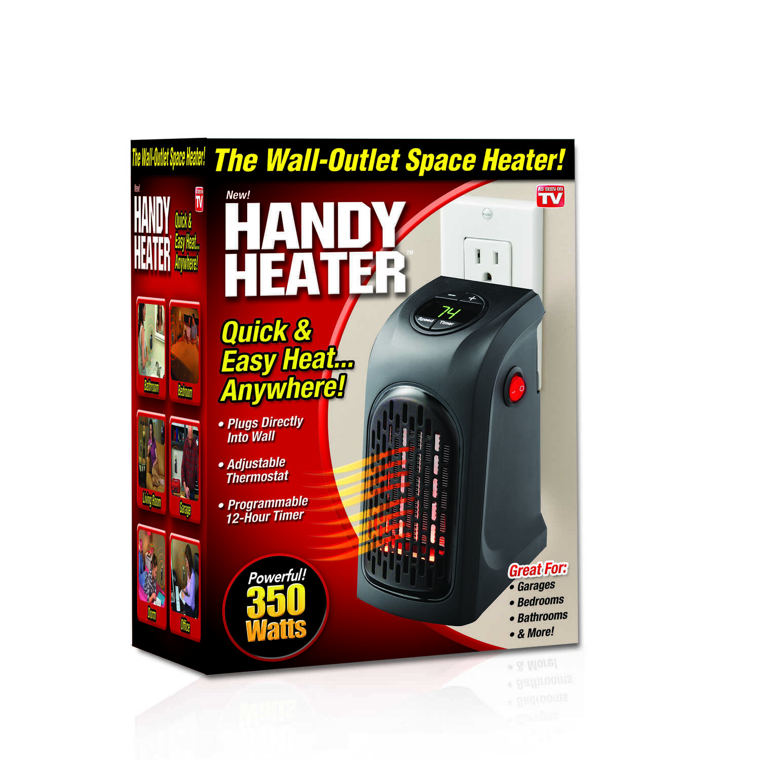 Handy Heater  250 sq. ft. Wall Heater  3.3 in. W