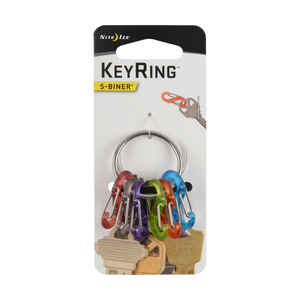 Nite Ize  KeyRing S-Biner  2.2 in. Dia. Stainless Steel  Assorted  Key Ring
