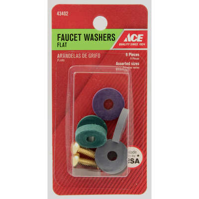 Ace  .1 in. Dia. Rubber  Faucet Washer  10