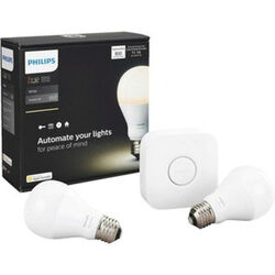 Philips  Hue  A19  E26 (Medium)  LED Smart Bulb Starter Kit  Soft White  60 Watt Equivalence 2 pk
