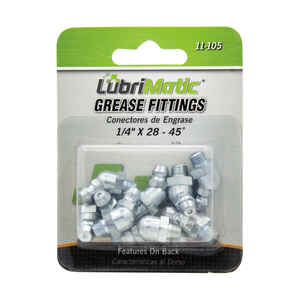 Lubrimatic  45 degree  Grease Fittings  10 pk