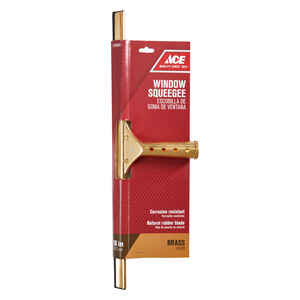 Ace  18 in. Brass  Window Squeegee