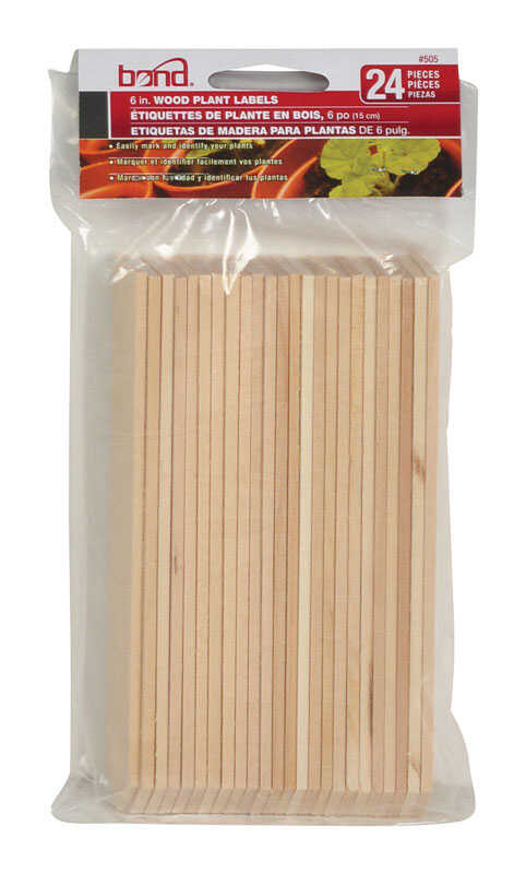 Bond Manufacturing  6 in. H Wood  Garden Stakes  Brown