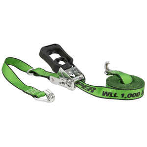 Keeper  1.25 in. W x 16 ft. L Green  Tie Down Strap  1000 lb. 1 pk