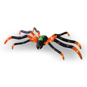 Occasions  Giant Spider  Lighted 32 in. H x 62 in. W x 240 in. L 1 each Halloween Decoration