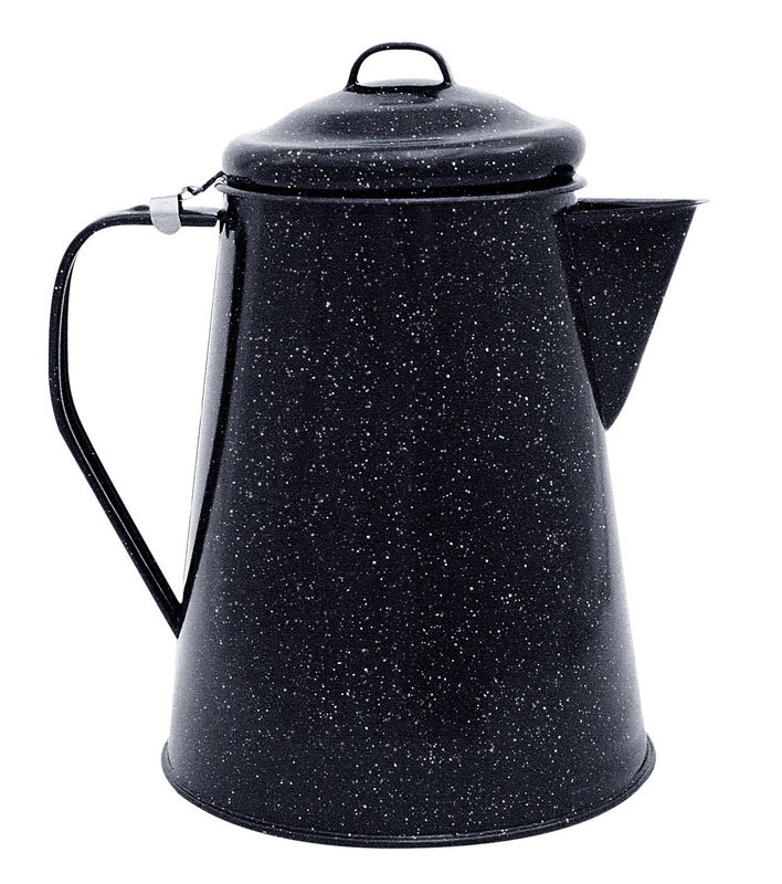 Columbian Home  Graniteware  3 qt. Black  Coffee Boiler