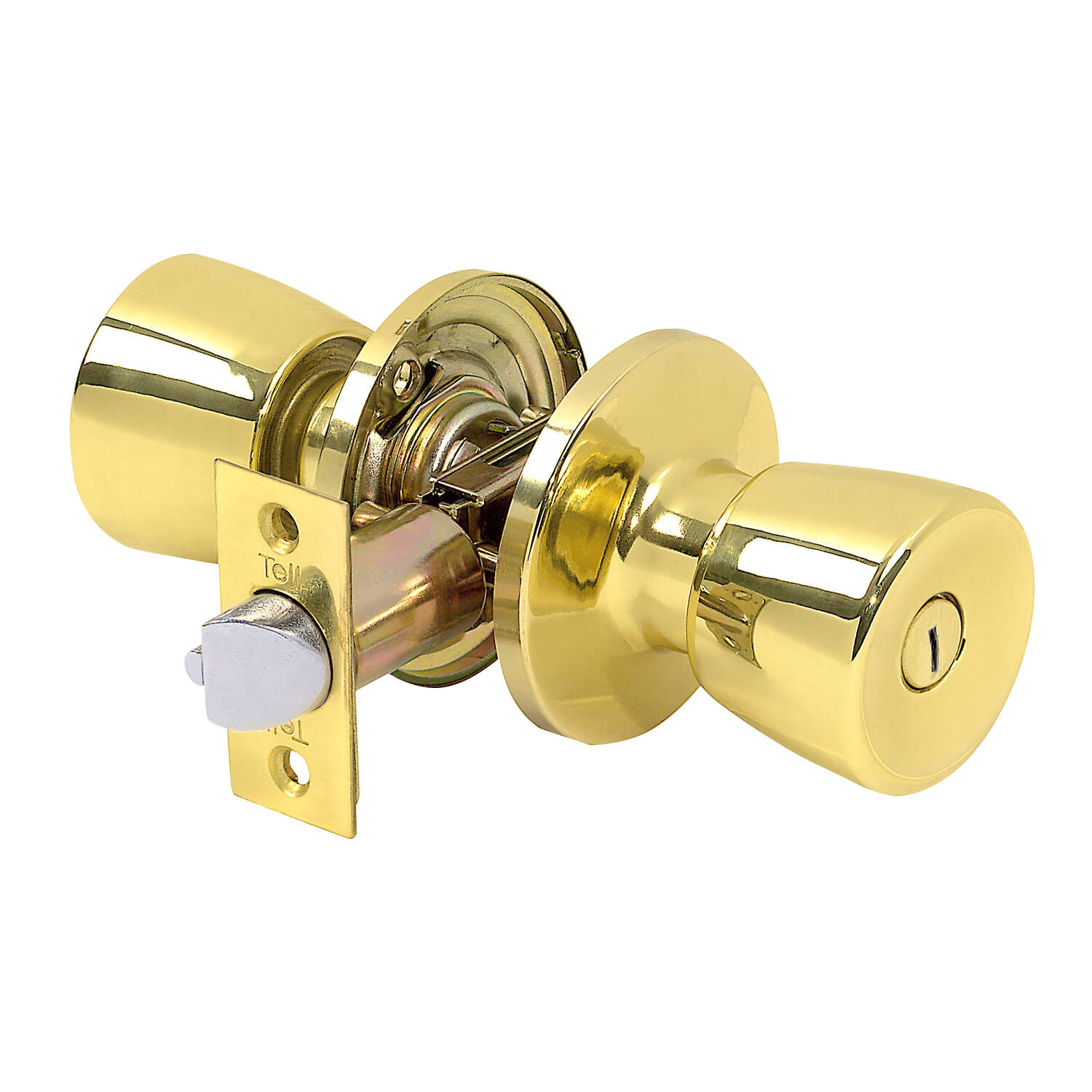 Tell Alton Bright Brass Steel Privacy Knob 3 Right or Left Handed