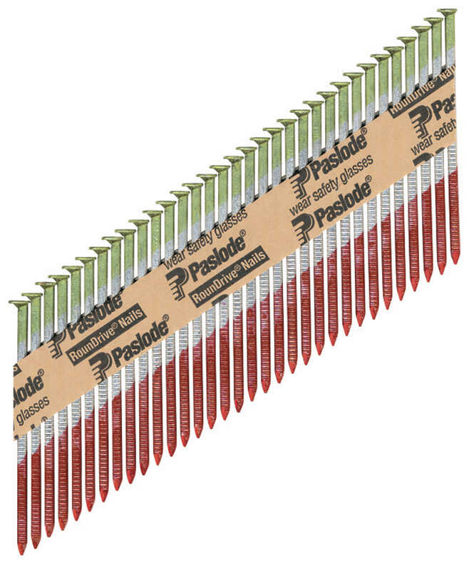 Paslode  RounDrive  30 deg. 18 Ga. Ring Shank  Straight Strip  Framing Nails  3 in. L x 0.12 in. Dia