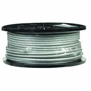 Campbell Chain  Clear Vinyl  Galvanized Steel  1/8 in. Dia. x 250 ft. L Aircraft Cable