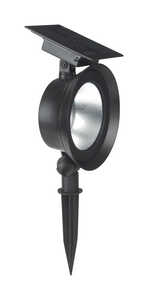 Living Accents  Powered by Duracell  Black  Solar-Powered  0.192 watts Spot Light  LED  1 pk