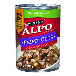 Purina  Alpo Prime Cuts  Lamb and Rice  Pate  Dog  Food  13.2