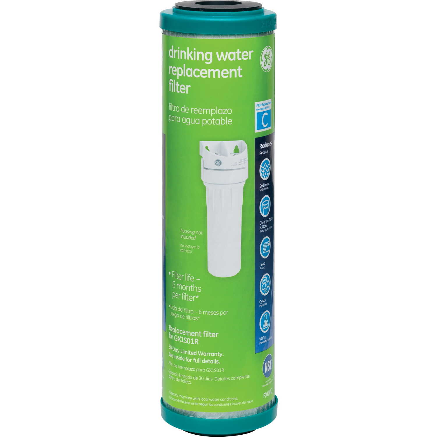 GE Appliances  Drinking Water  Replacement Water Filter  For Under Sink 600 gal.