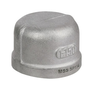 Smith-Cooper  1-1/4 in. FPT   x 1-1/4 in. Dia. FPT  Stainless Steel  Cap