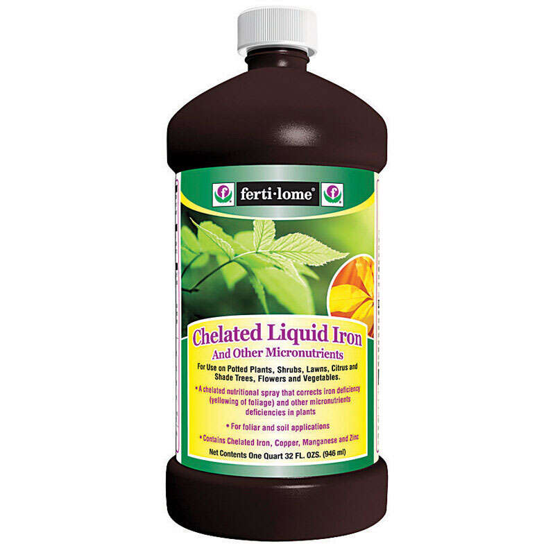 This is a photo of Agile Fertilome Chelated Liquid Iron Label