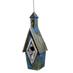 Alpine  20 in. H x 6 in. W x 6 in. L Wood  Bird House