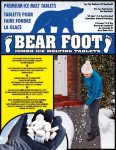 BearFoot  Sodium and Calcium Chloride  Ice Melt  25 lb. Tablet
