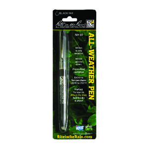 Rite In The Rain  All-Weather  Black  Retractable Ball Point Pen  1 pk