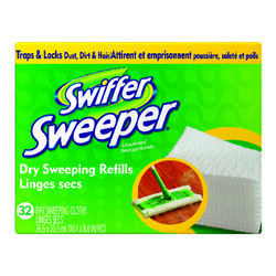 Swiffer  Sweeper  10.4 in. W x 8 in. L Dry  Cloth  Mop Pad  32 pk