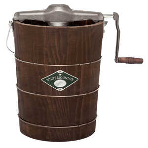 White Mountain  Brown  6 qt. Ice Cream Maker  13.4 in. L x 13.2 in. H x 19.2 in. W