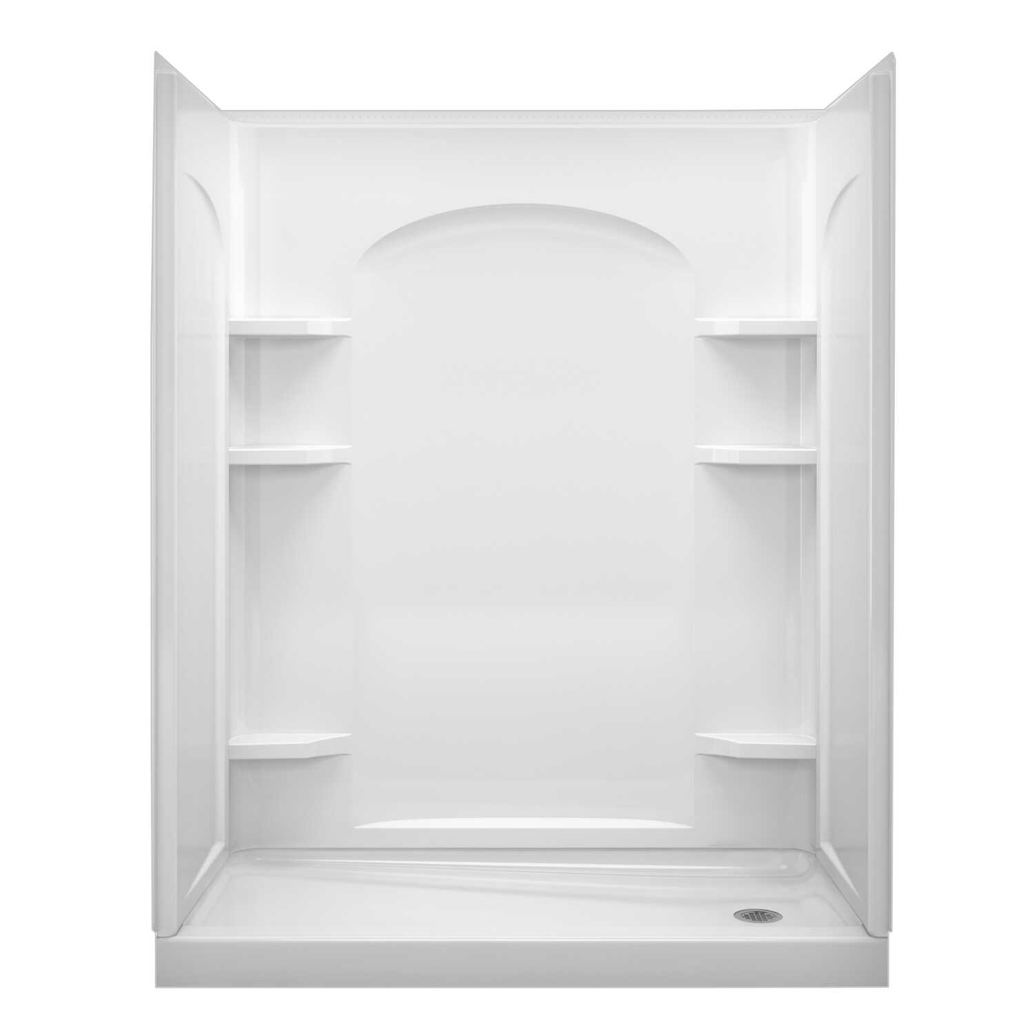 Sterling  Ensemble  4 in. H x 30 in. W x 60 in. L White  Shower Base  Plastic composite  Right Hand
