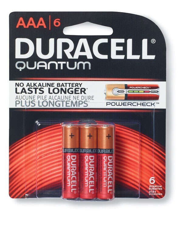 Duracell  Quantum  AAA  Alkaline  Batteries  1.5 volts 6 pk Carded
