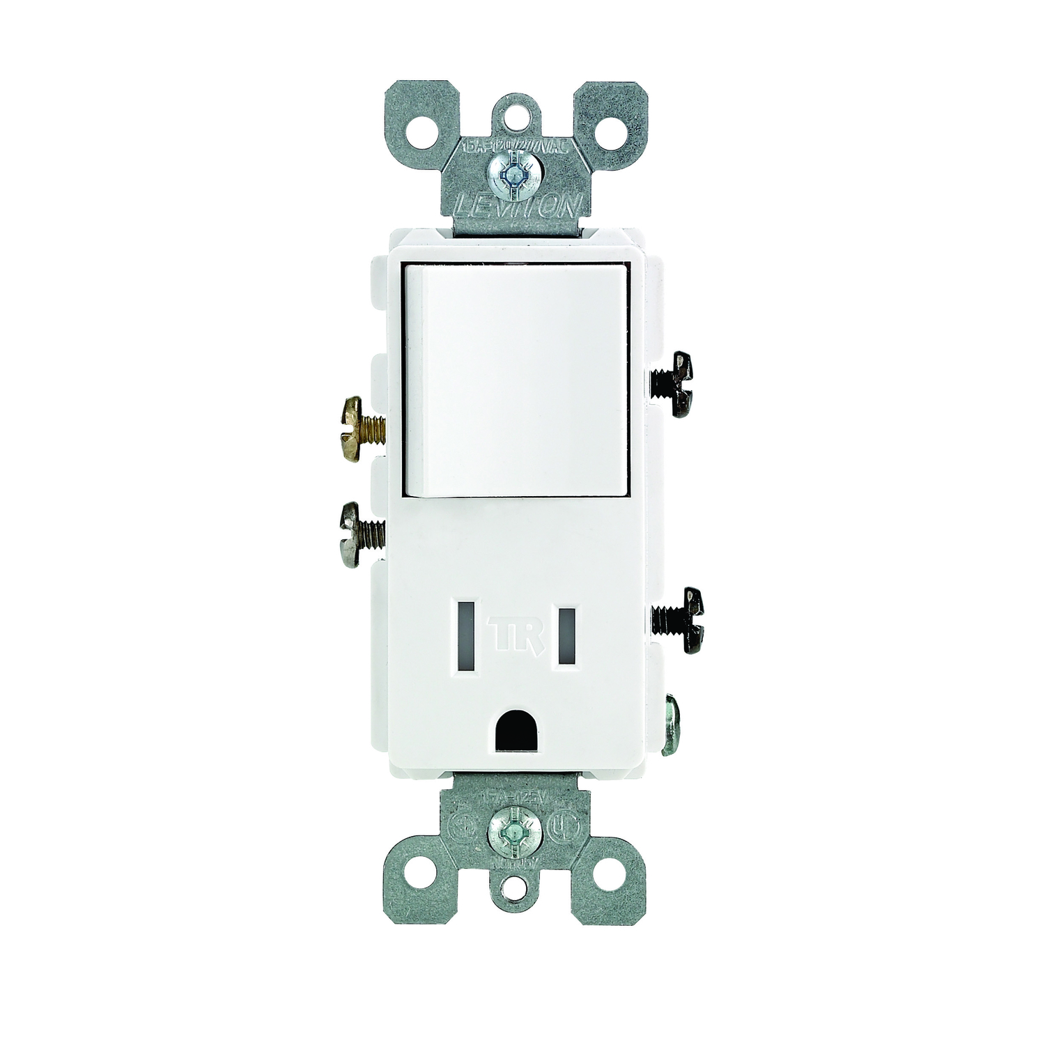 Leviton Decora 15 Amps 125 Volt White Combination Switch