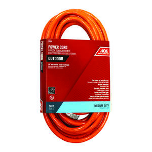 Ace  Indoor and Outdoor  50 ft. L Orange  Extension Cord  14/3 SJTW
