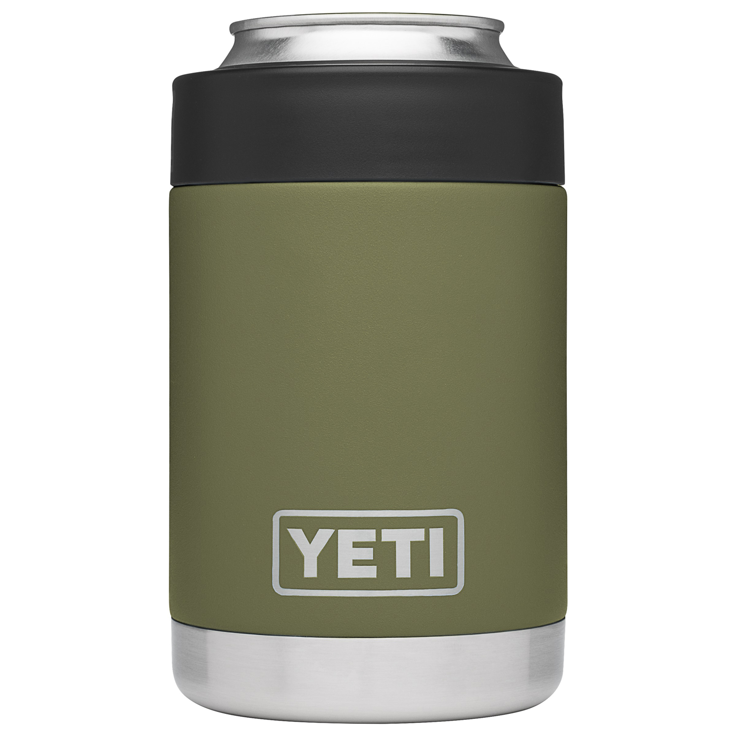 YETI  Rambler Colster  Stainless Steel  Beverage Holder  12  BPA Free Olive Green