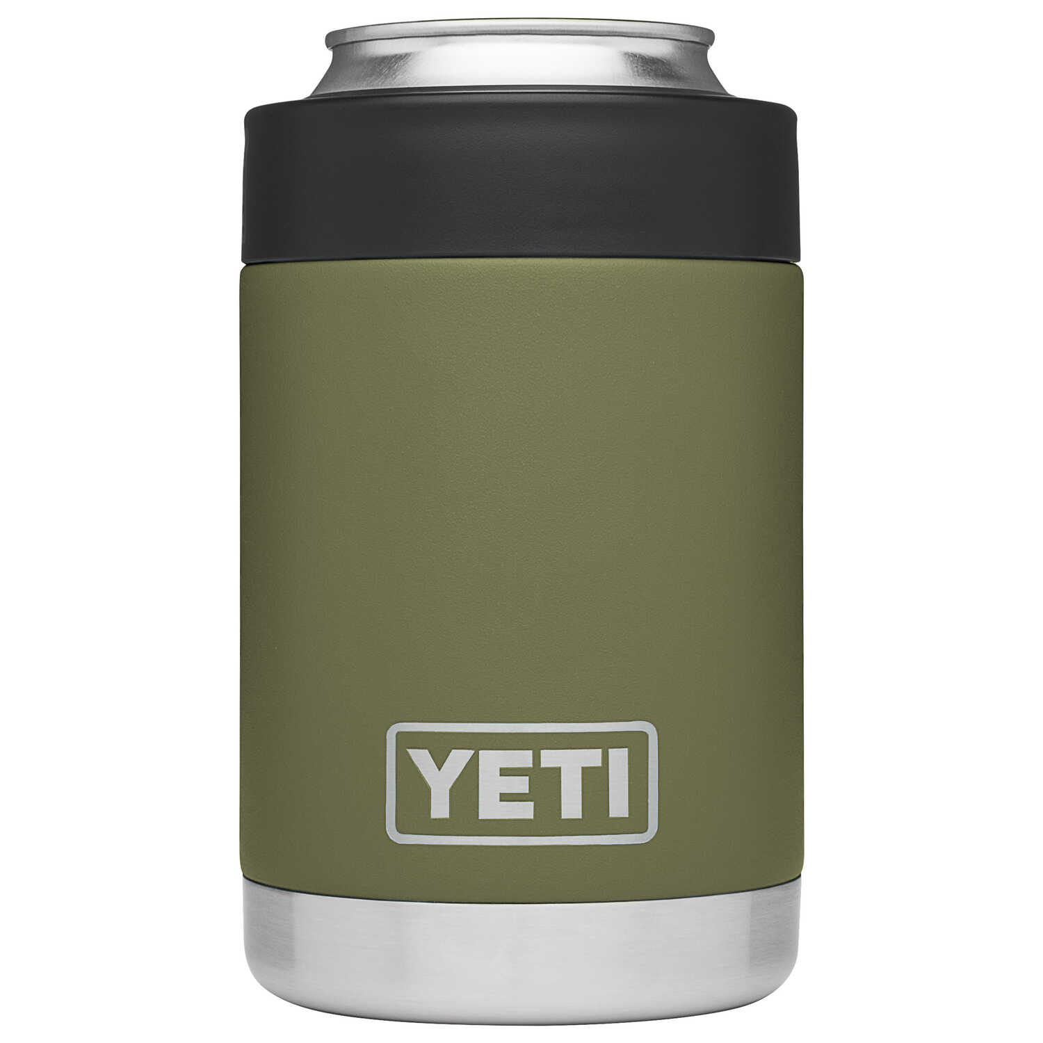 YETI  Rambler Colster  Olive Green  Beverage Holder  BPA Free 12  Stainless Steel